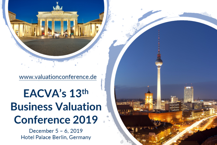 EACVA's 13th Business Valuation Conference | 5–6 December 2019 in Berlin | Register Now!